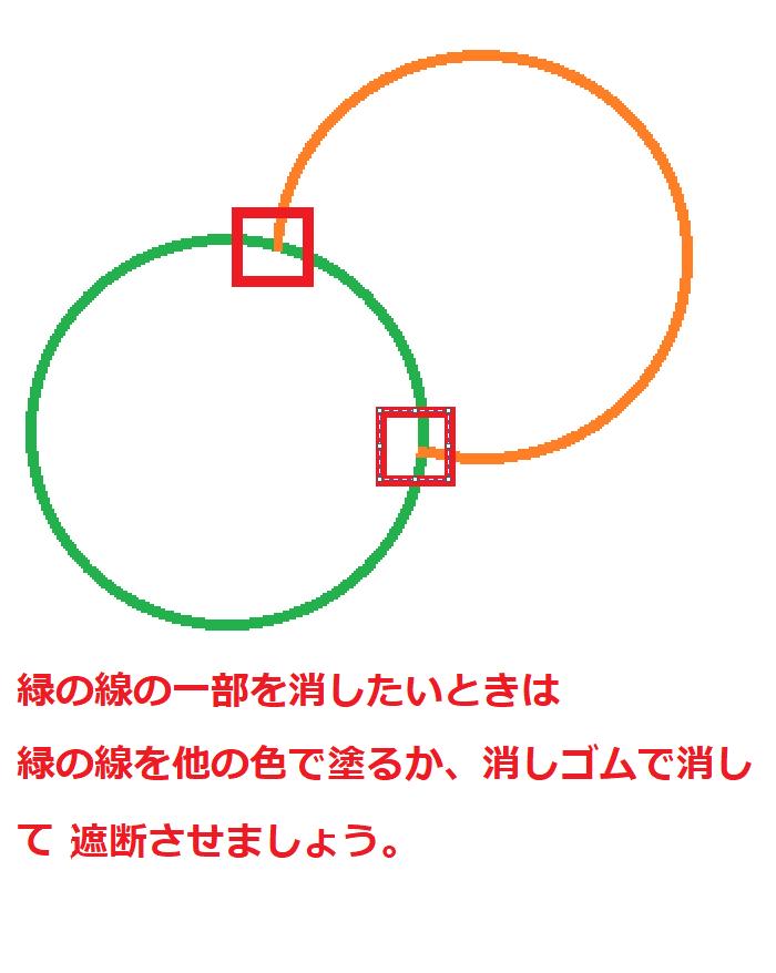 ペイントの使い方塗りつぶしツールで線を消す方法7